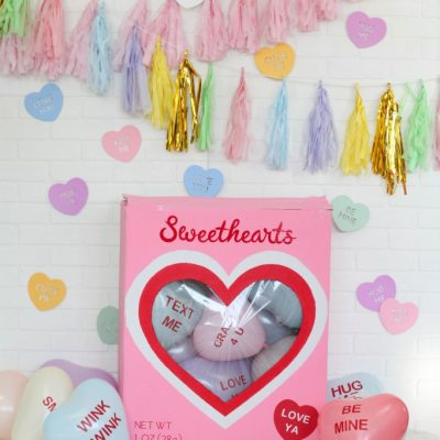 DIY Cricut Conversation Heart Valentine's Day Party