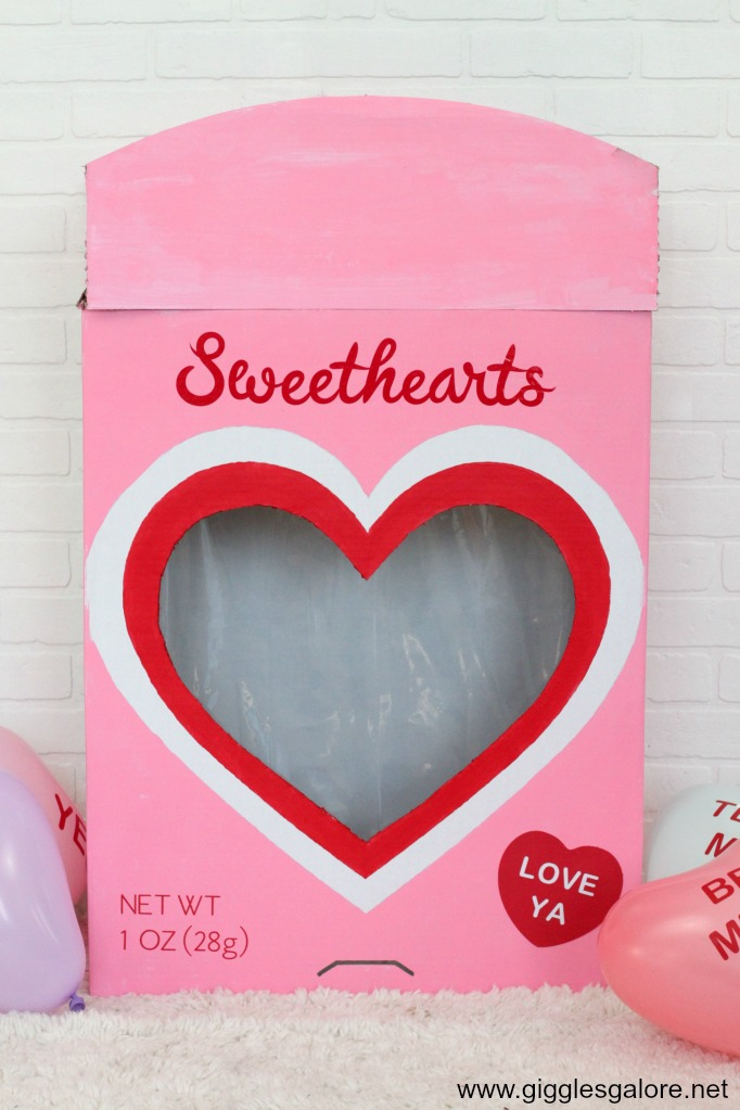 Diy cricut conversation heart candy box