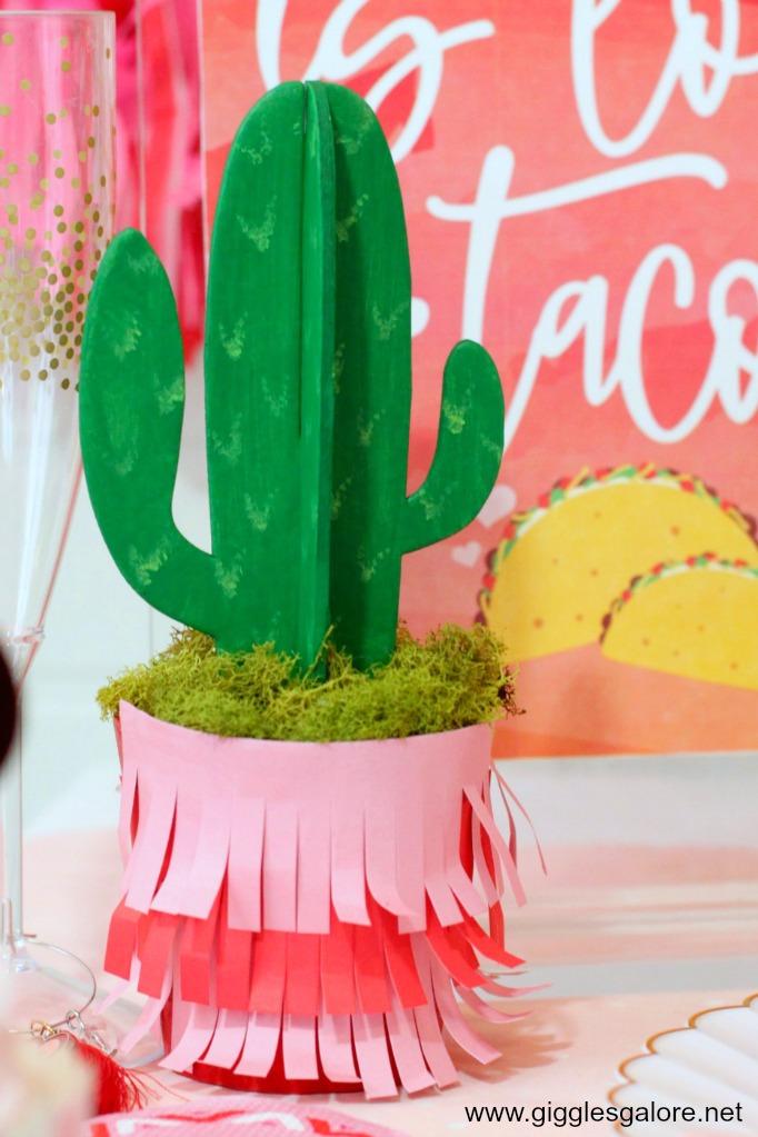 Diy valentine fiesta cactus decorations