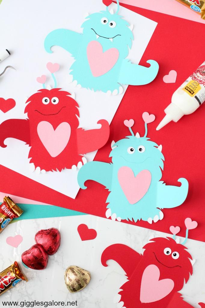 Monster valentine card step 5