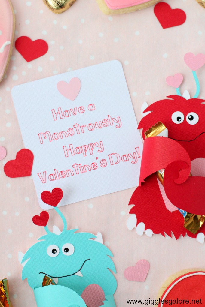Monstrously happy valentines day card