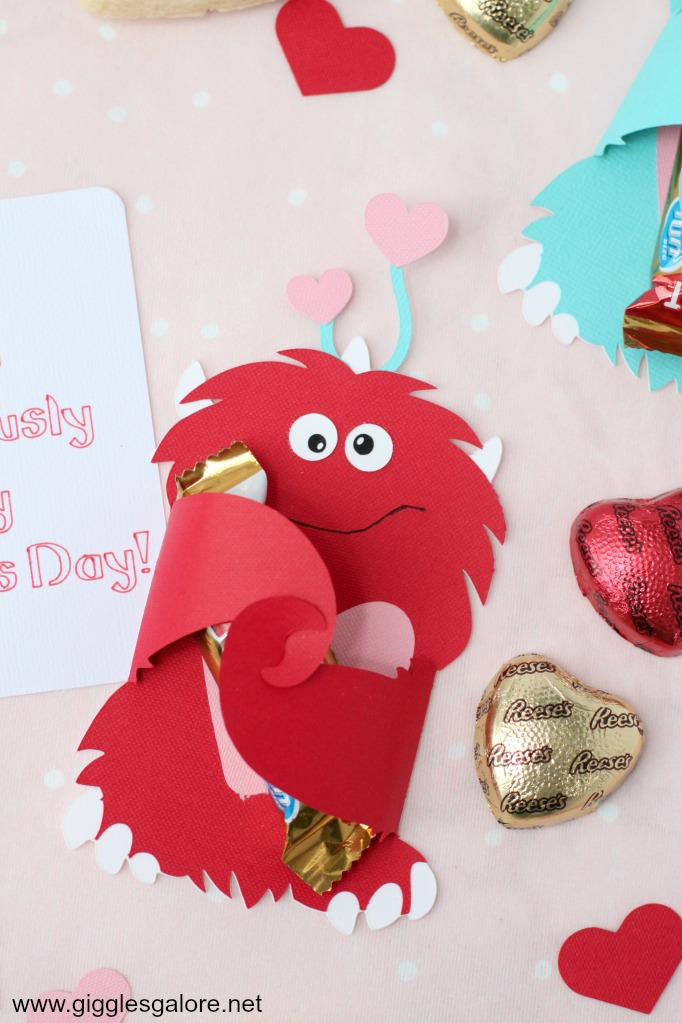 Red monster valentine card