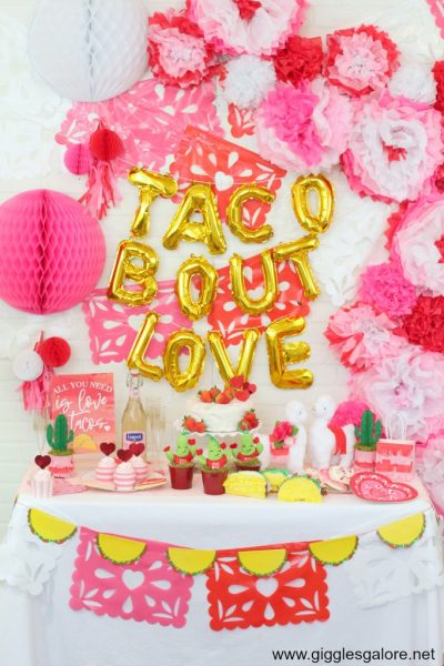 Taco bout love fiesta party backdrop