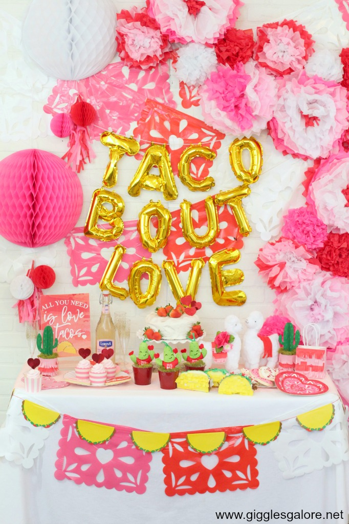 Taco bout love party backdrop