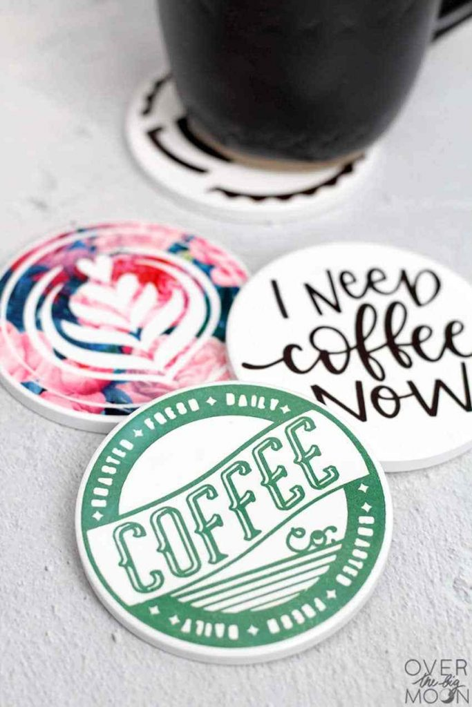 Coffee coasters infusible ink