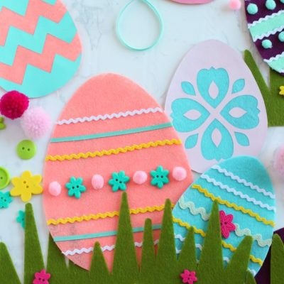 Cricut Maker DIY Felt Easter Egg Craft