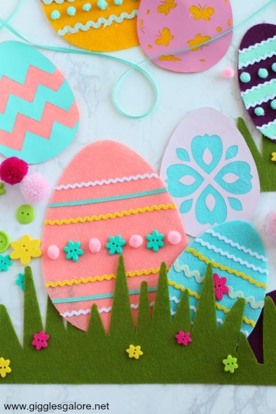 Diy cricut maker felt easter eggs