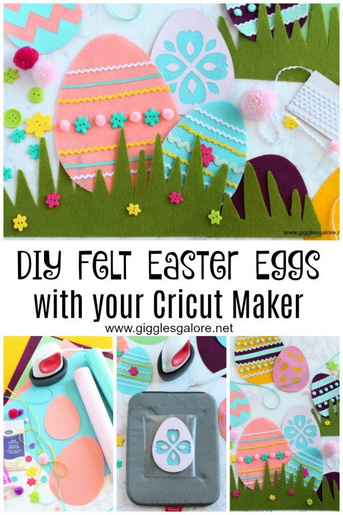 Diy felt easter eggs with your cricut maker