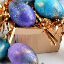 Galaxy glitter easter eggs
