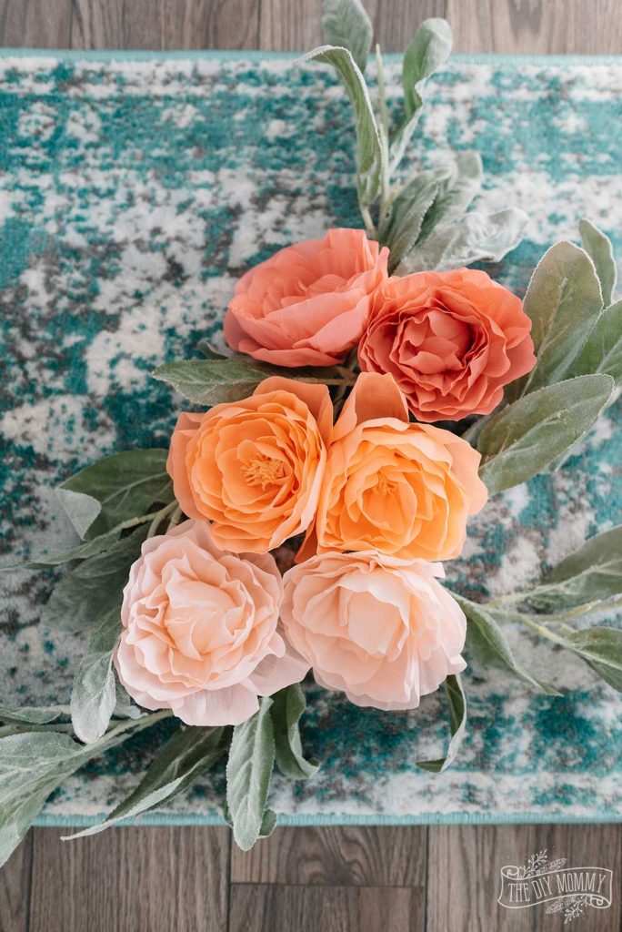 How to make crepe paper peonies with the cricut maker