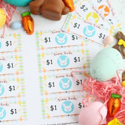 Bunny buck easter printable