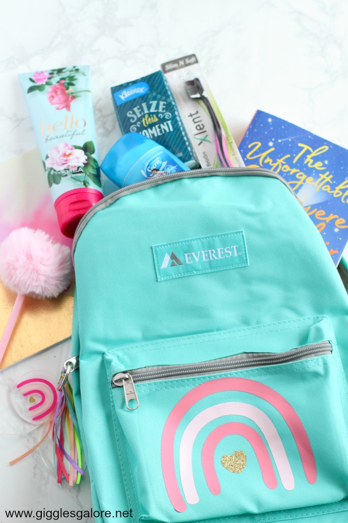 Cricut foster care backpack