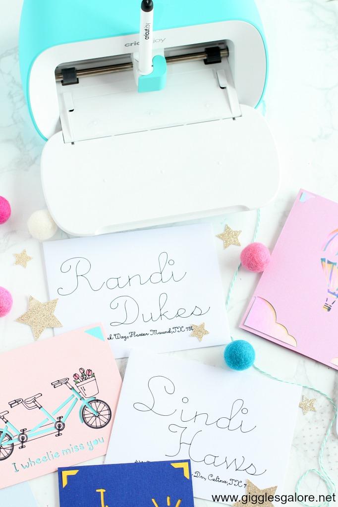Cricut joy envelopes