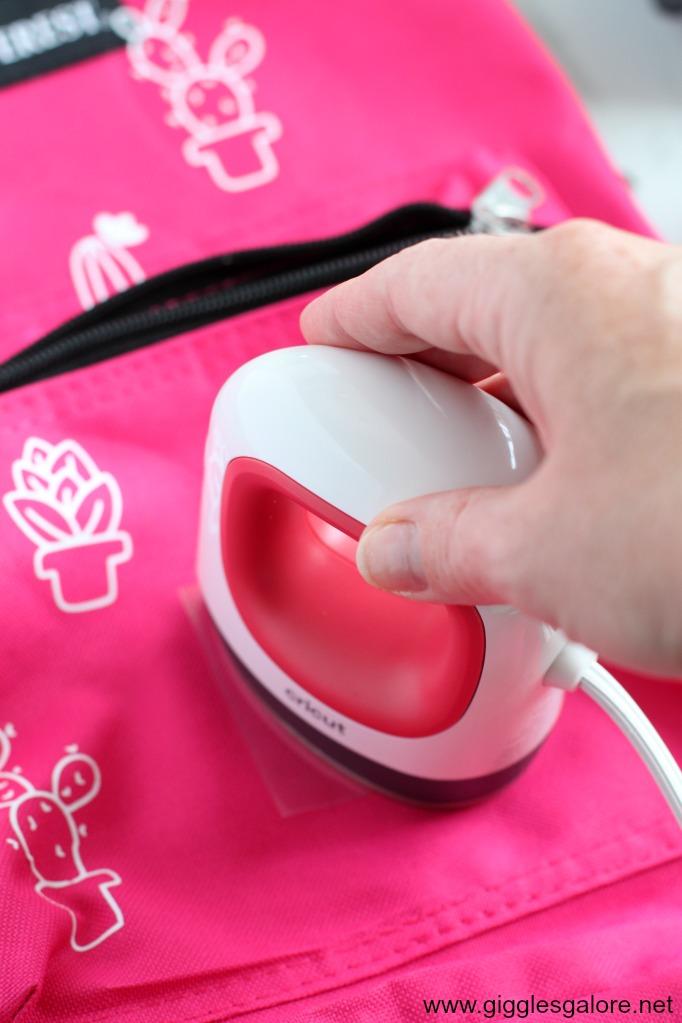 Cricut mini press foster care backpacks
