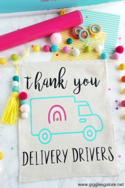 Cricut thank you delivery drivers