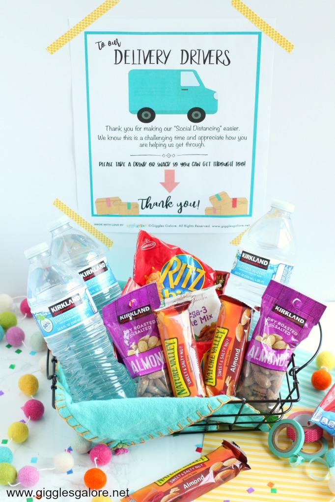 Delivery driver snack basket