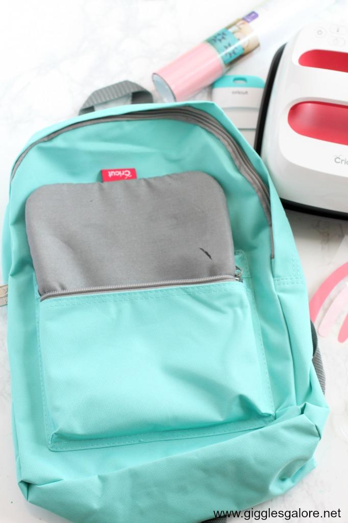 Diy cricut iron on backpack