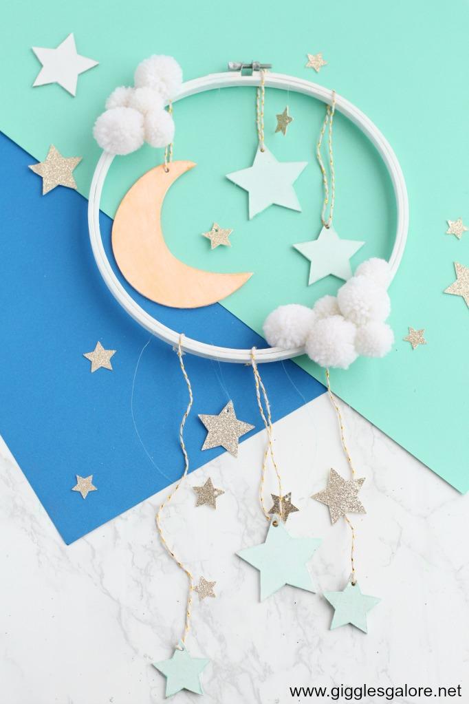 Diy moon and star mobile