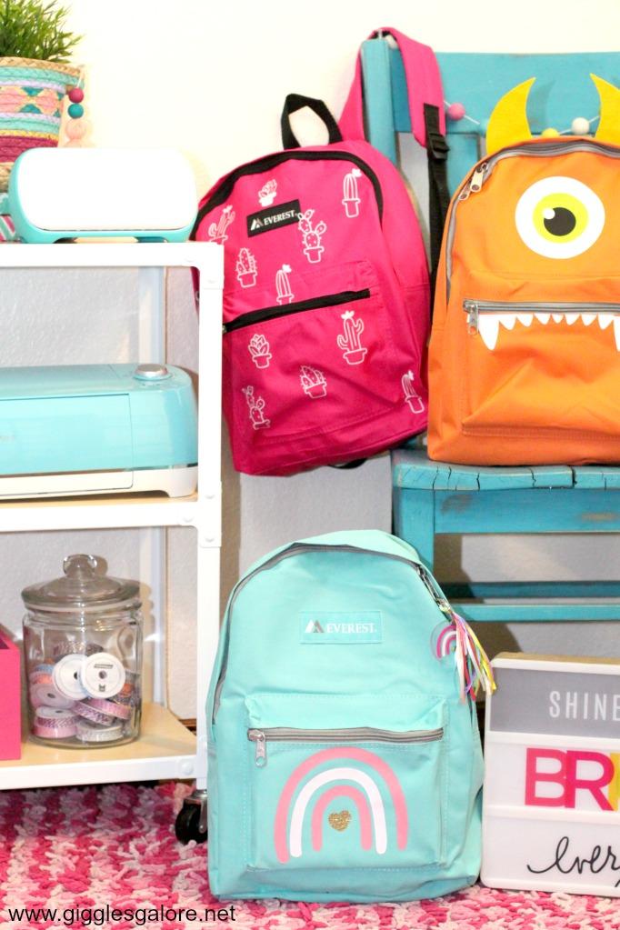 Diy rainbow backpack