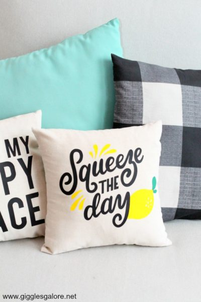 Diy squeeze the day lemon pillow