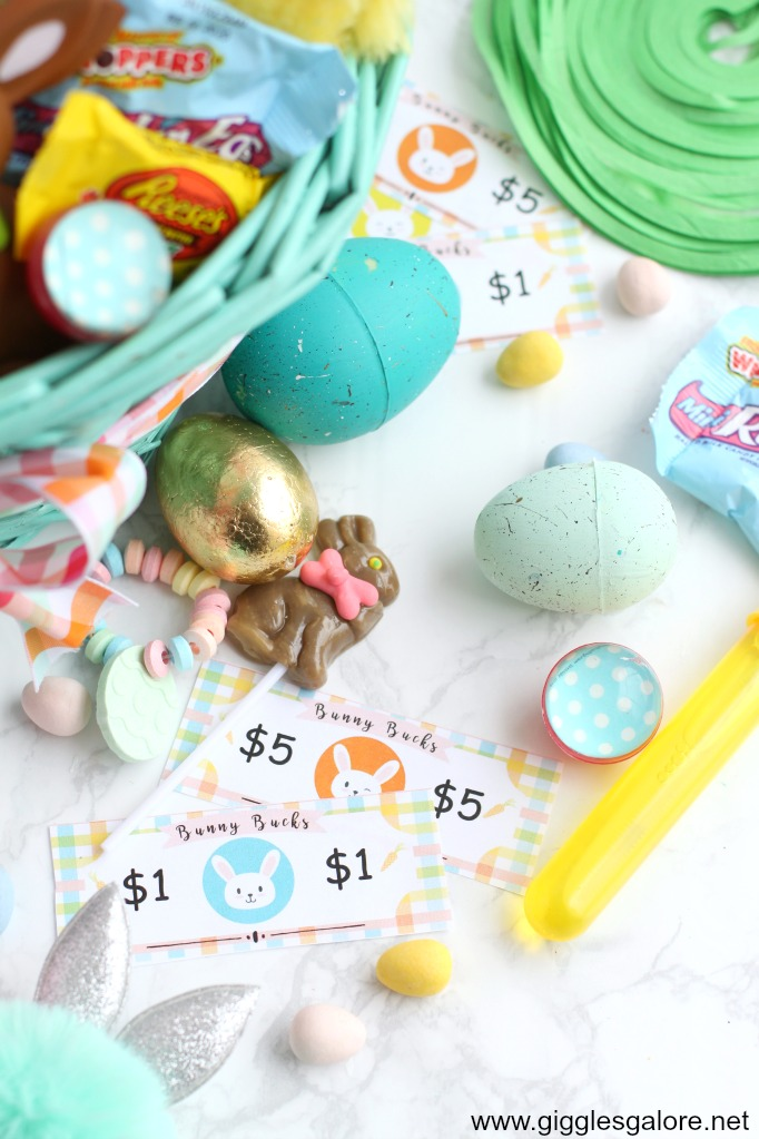 Easter candy and bunny bucks