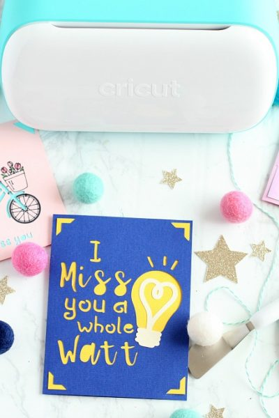 Easy cards with cricut joy