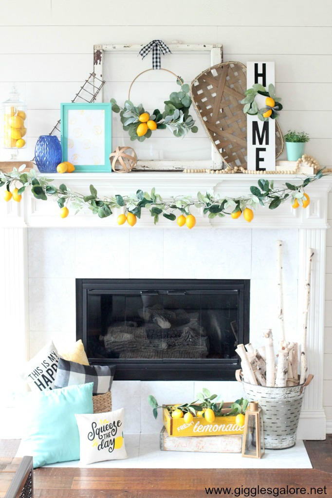 Farmhouse lemon summermantel decorations giggles galore