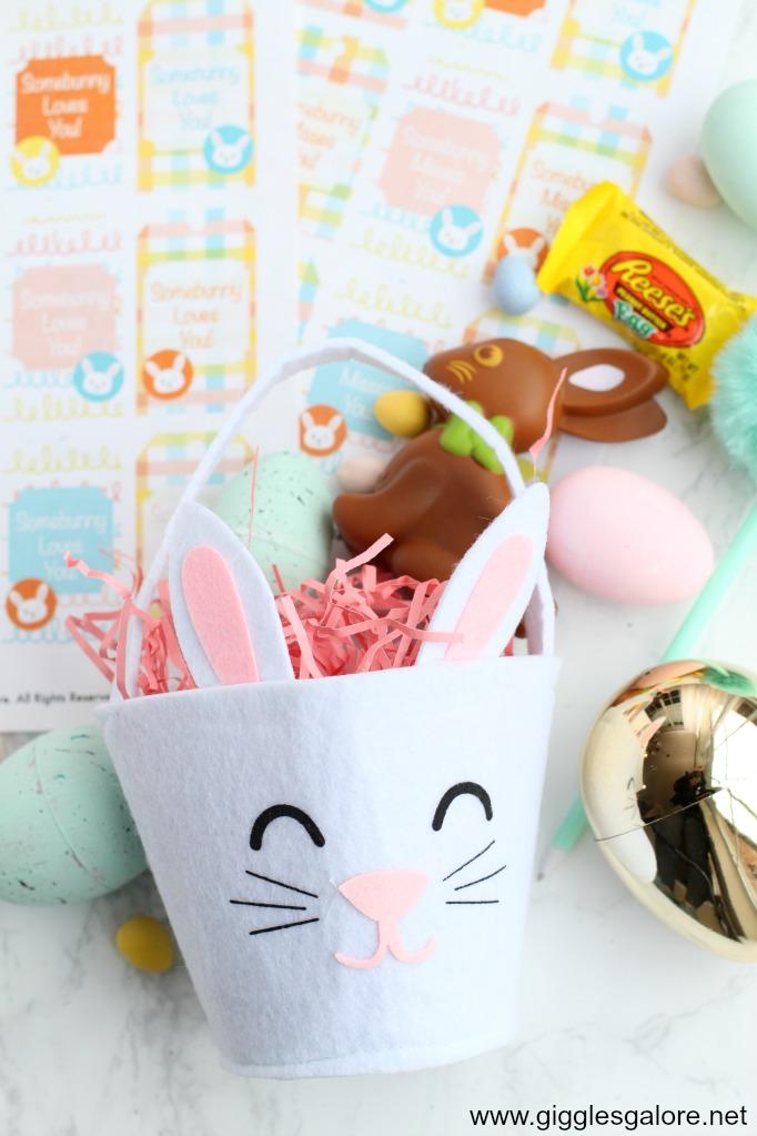 Felt bunny baskets
