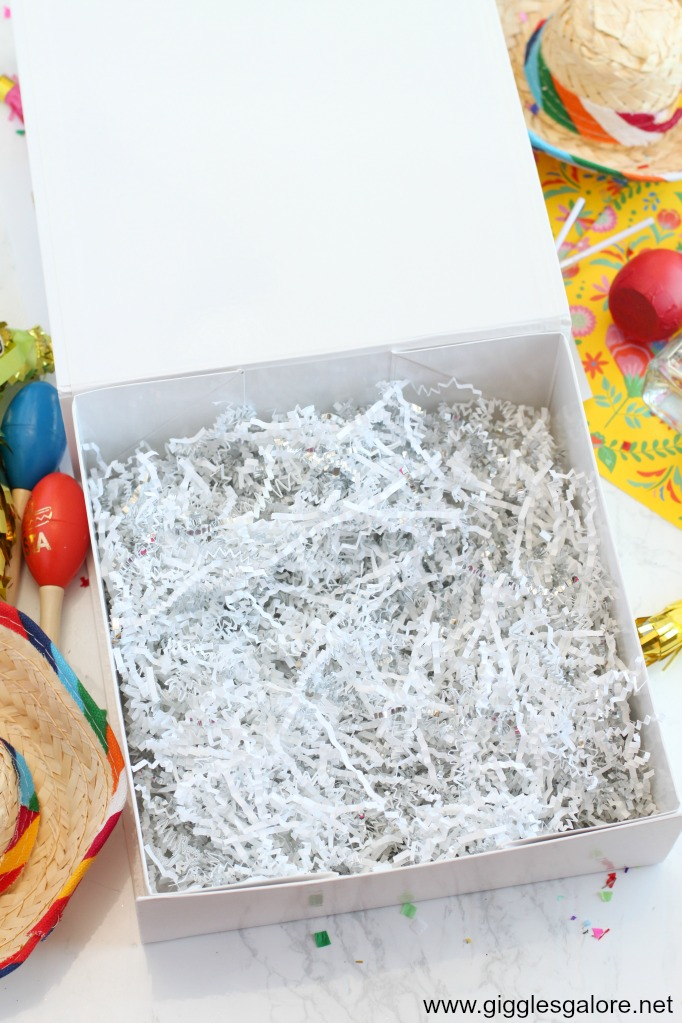 Fiesta in a box paper shred
