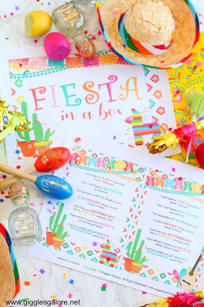 Fiesta in a box printables