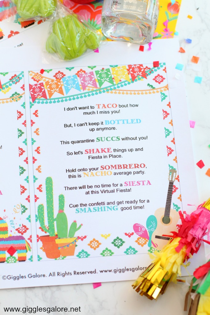 Fiesta in a box quarantine printable