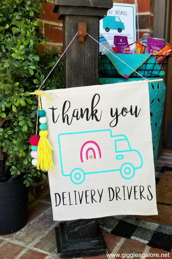 Front porch delivery drivers sign