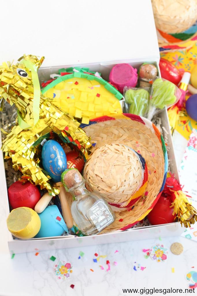 Goodies for fiesta in a box