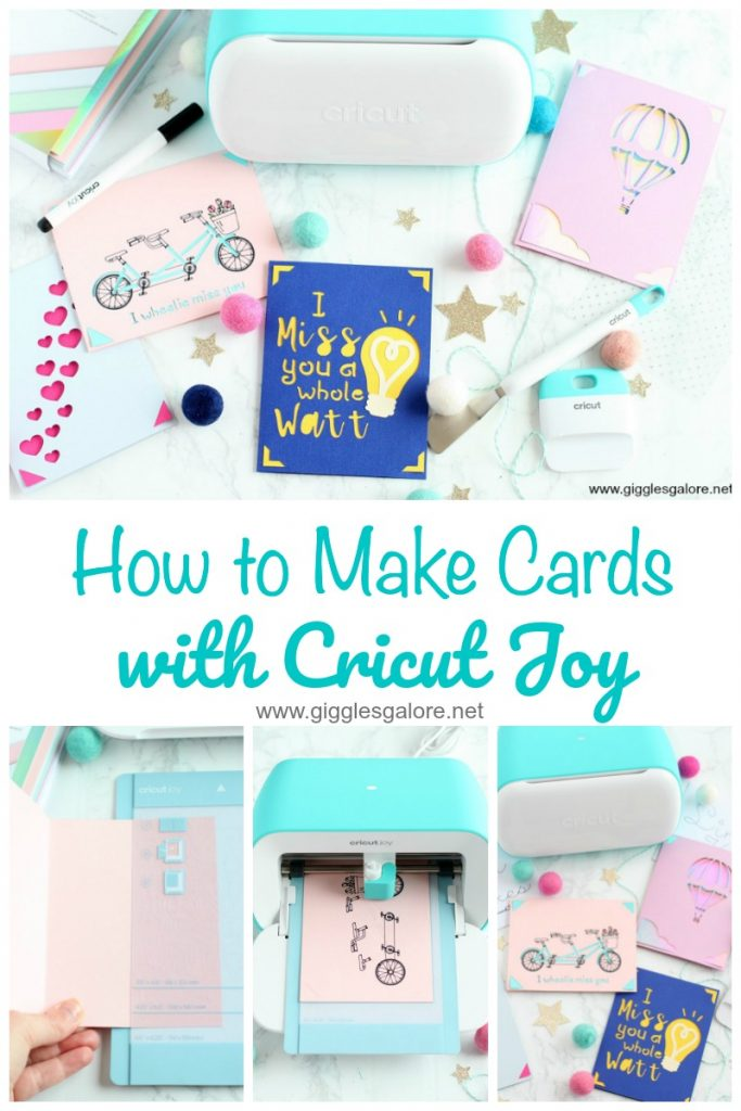 How to make cards with cricut joy giggles galore