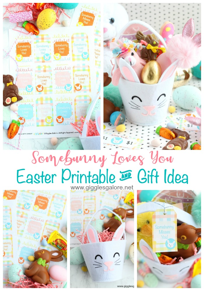 Somebunny loves you easter printable gift idea