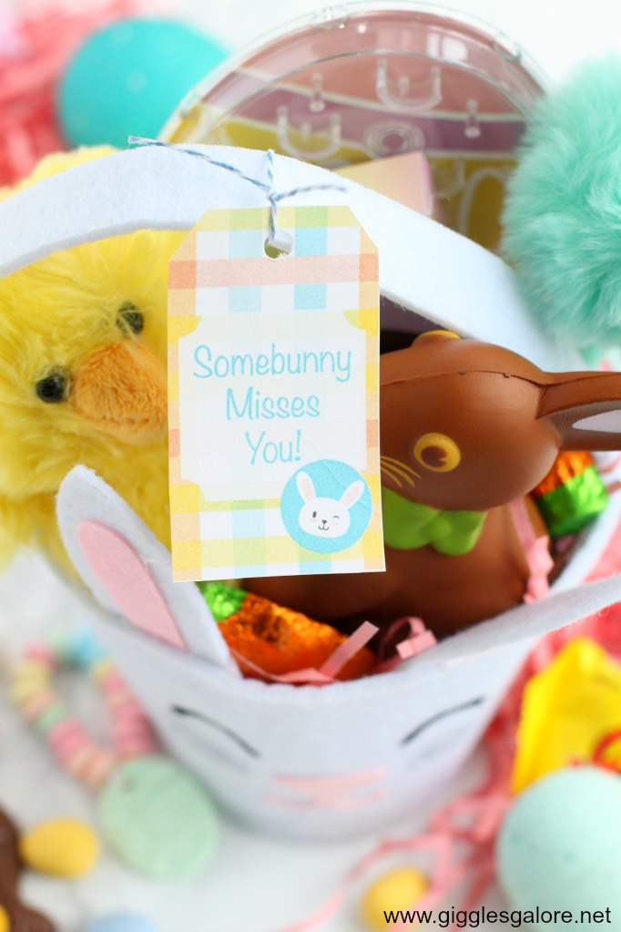Somebunny misses you easter gift and printable tag 1