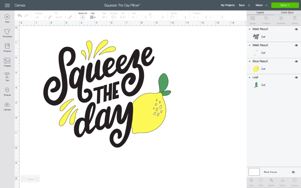 Squeeze the day cricut svg