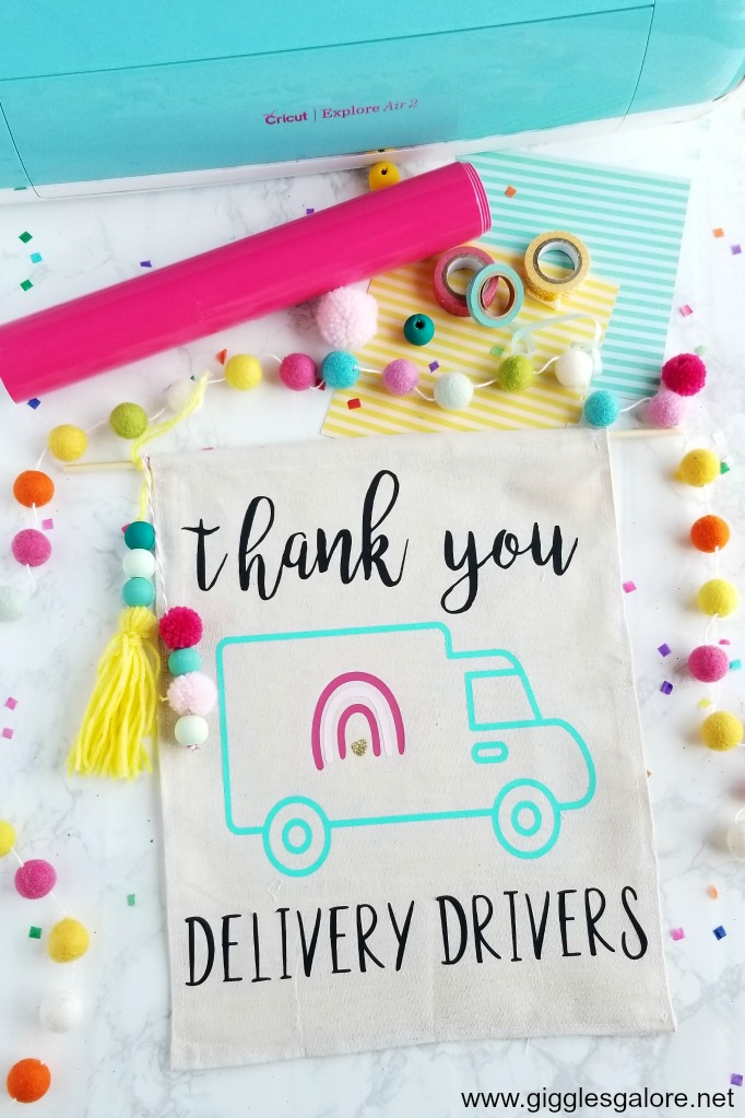 Thank you delivery drivers cricut sign