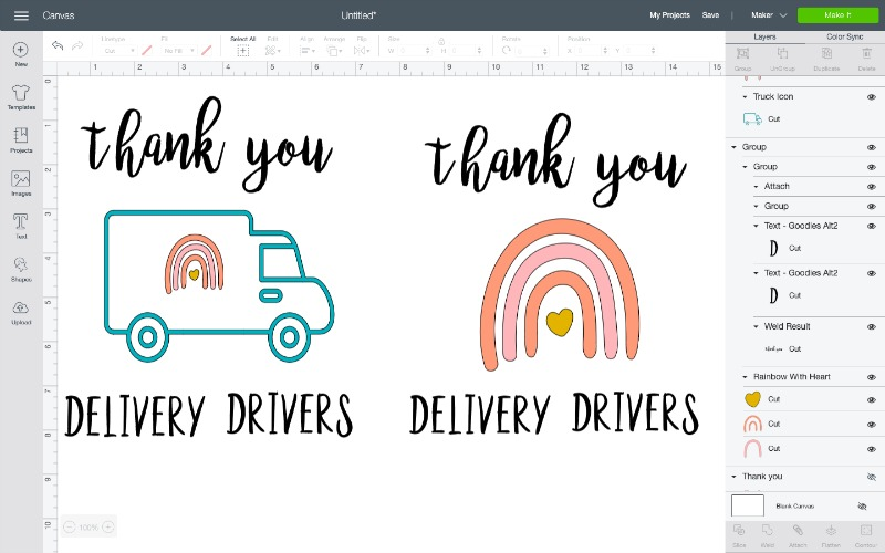 Thank you delivery drivers svg