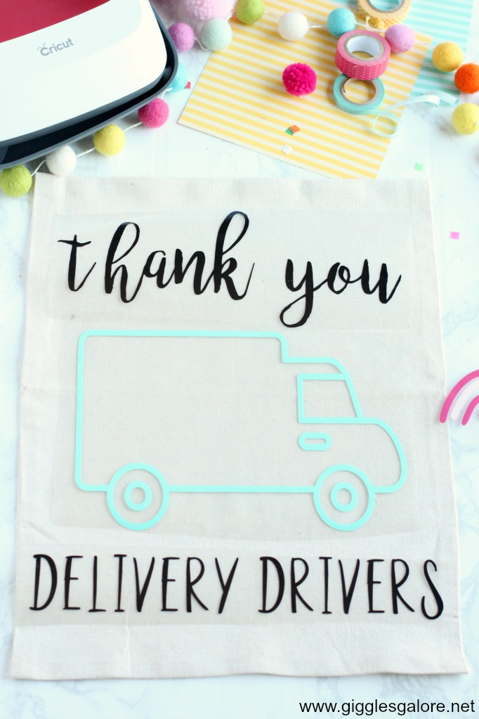 Thank you delivery drivers vinyl