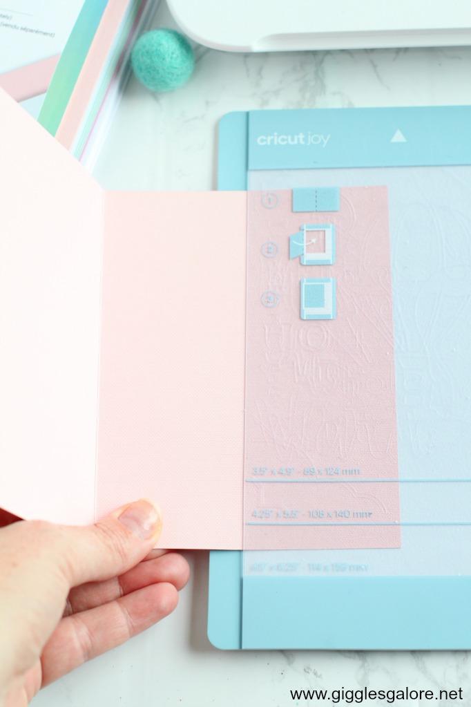 Using cricut joy card mat