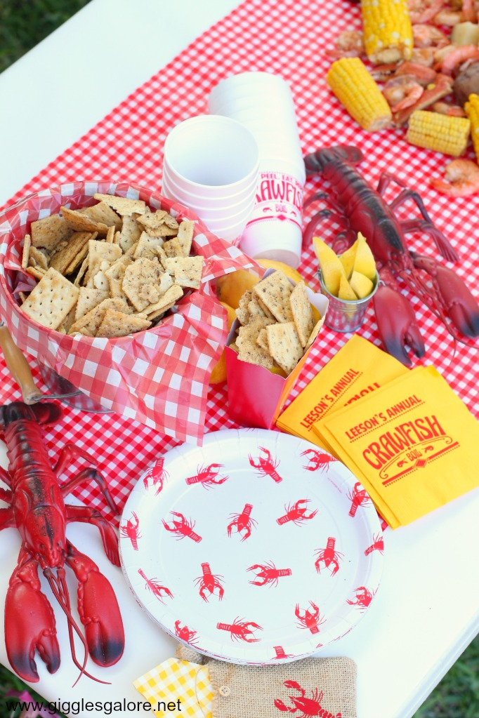 Crawfish boil party goods