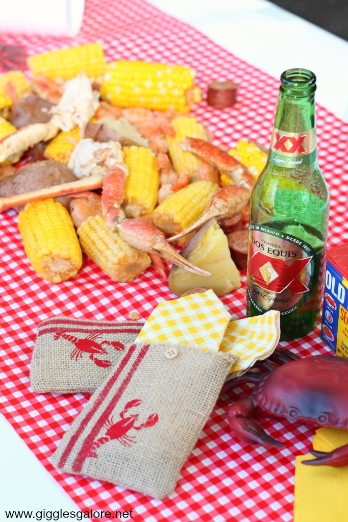 Crawfish boil party table