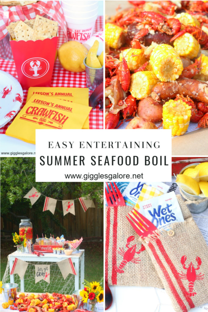 Easy entertaining summer seafood boil