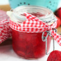 Strawberry jam jars 1