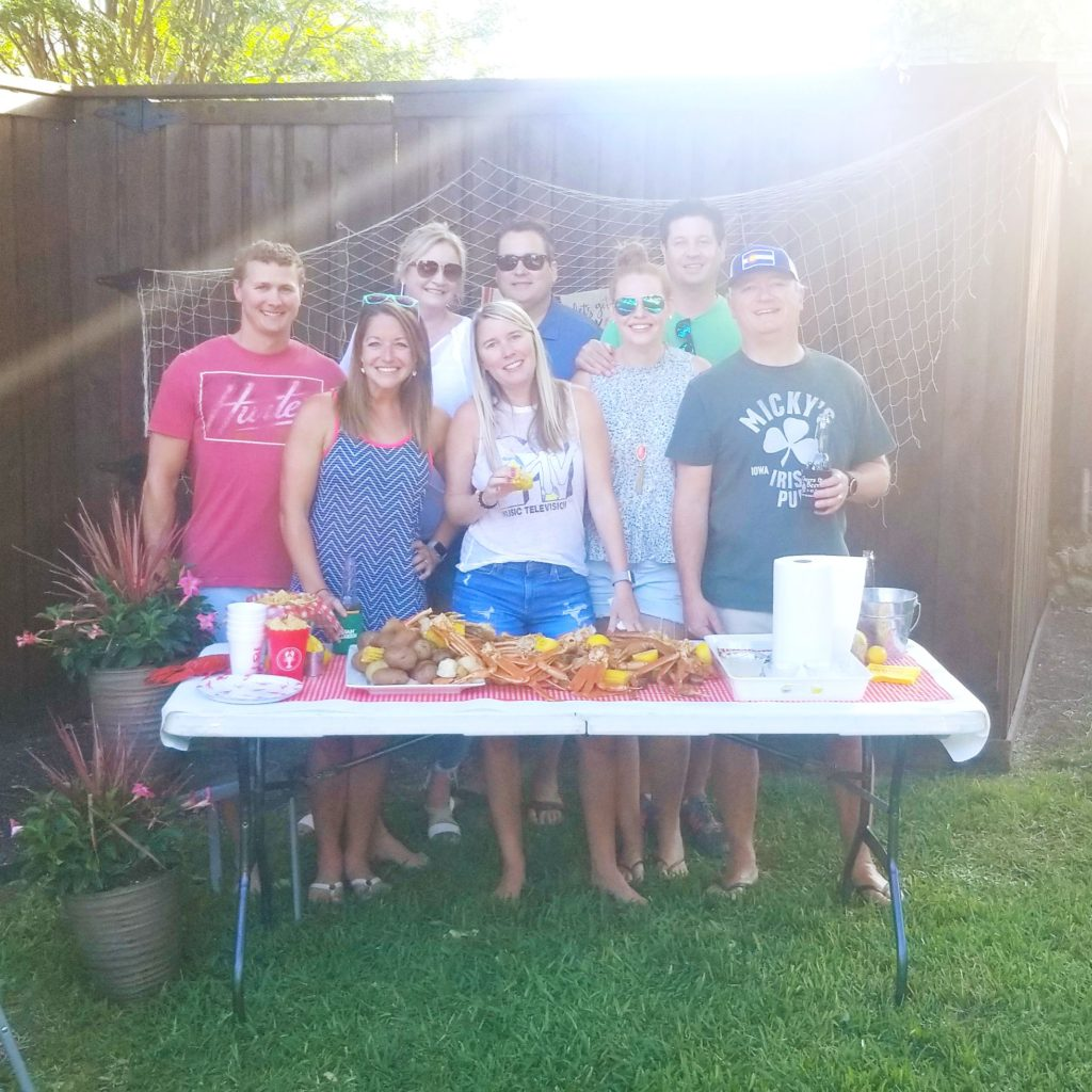 Summer seafood boil with friends