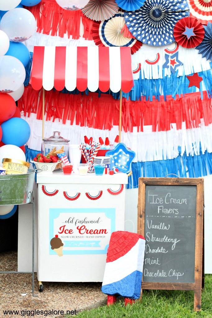 4th of july ice cream social