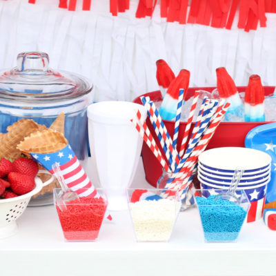 Easy Summer Entertaining: Patriotic Ice Cream Social