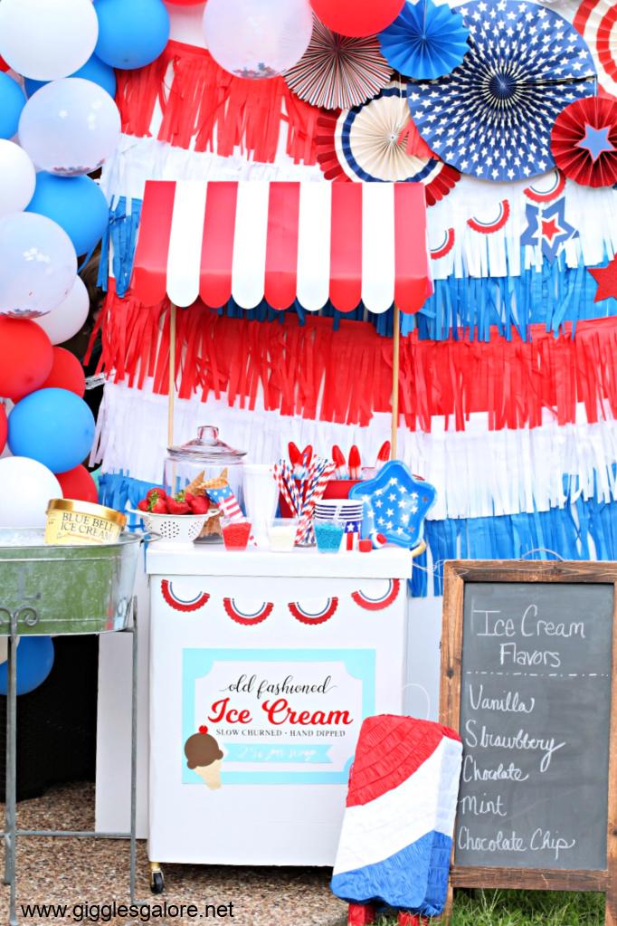 Retro ice cream cart
