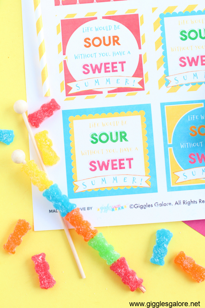 Candy kabobs for slushies